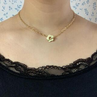 カスタネ(Kastane)の再∞販 flower × oval chain choker(ネックレス)