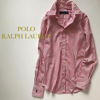 POLO RALPH LAUREN - POLO RALPH LAUREN ストライプシャツ レッド×ホワイト