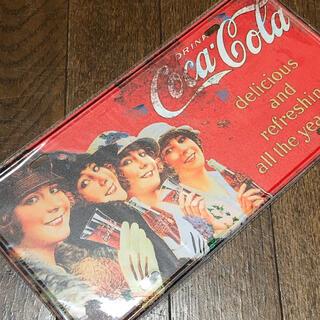 コカコーラ(コカ・コーラ)のコカコーラ 4ガールズ ナンバープレート ブリキ看板(ソフトドリンク)