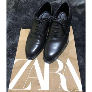 ZARA - ZARA サイズ42  黒 革靴 一回着用のみ