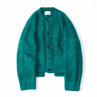 "stein 20aw KID MOHAIR CARDIGAN ""GREEN"""