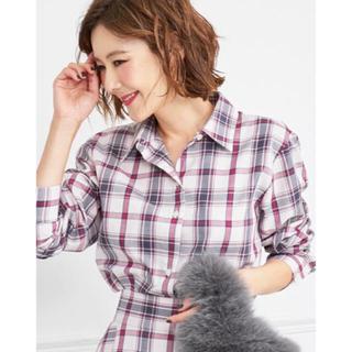 Drawer - 新品タグ付き OBLI オブリ ピンクチェックシャツ
