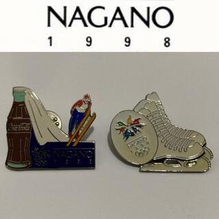 長野オリンピック ピンズ スキージャンプ スケート コカコーラ 未使用 1998(記念品/関連グッズ)