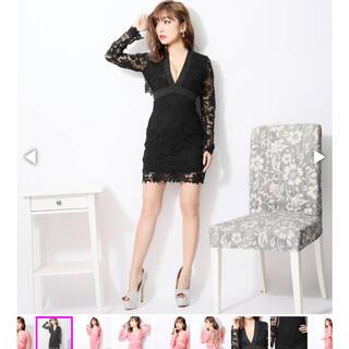 デイジーストア(dazzy store)のオープンバックレースタイトドレス(ミニワンピース)