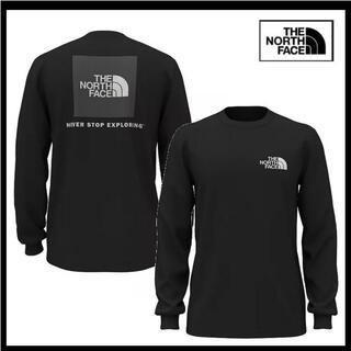 THE NORTH FACE - ザ ノースフェイス 袖サイド ロゴ ロング Tシャツ ブラック