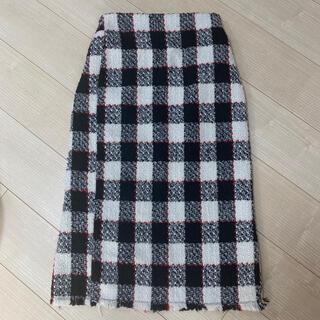 ミリオンカラッツ(Million Carats)のミリオンカラッツ ツィード チェック タイトスカート(ひざ丈スカート)