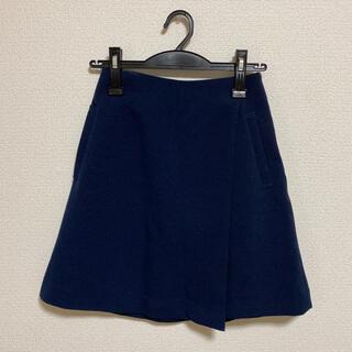 ヴィス(ViS)の【美品】Visミニスカート ネイビー  スコート(ひざ丈スカート)