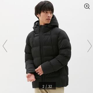 GU - GU 中綿ブルゾン 黒 ジャケット ダウン ユニクロ s ジーユー