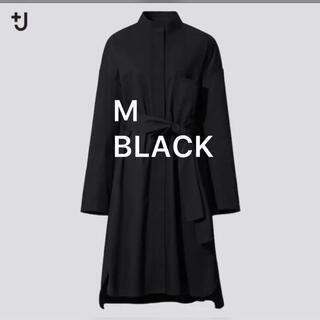 Jil Sander - プラスジェイ +J ジルサンダー ユニクロ シャツワンピ ブラック SizeM