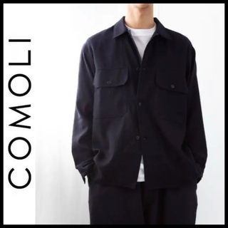 COMOLI - COMOLI 20aw カシミヤ和紙 C.P.Oジャケット シャツ