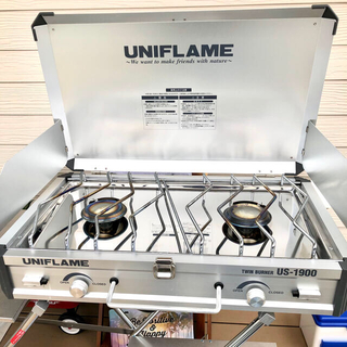 ユニフレーム(UNIFLAME)のユニフレーム  ツーバーナー(ツイン)キッチンスタンド セット販売(調理器具)