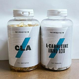 マイプロテイン(MYPROTEIN)のMYPROTEIN  CLA180錠、L-CARNITIN180錠【未開封】(ダイエット食品)