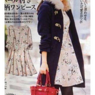 ミッシュマッシュ(MISCH MASCH)の百科美人コラボ☆パール付き花柄ワンピース(ひざ丈ワンピース)