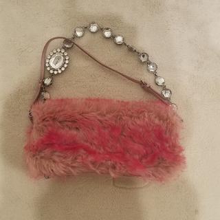 miumiu - miu miu ピンク ファーバッグ