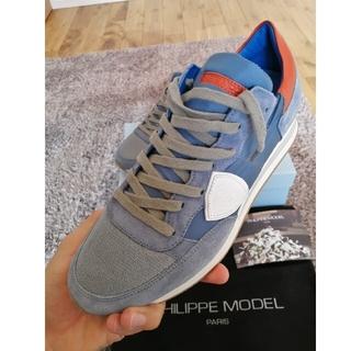 フィリップモデル(PHILIPPE MODEL)の新品PHILIPPEMODEL フィリップモデル TROPEZ40 ブルー(スニーカー)