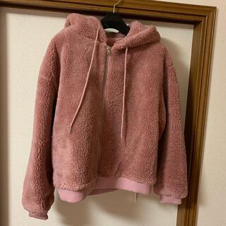 グレイル(GRL)のGRL フーディボアジャケット ピンク(ブルゾン)