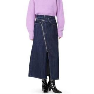 ルシェルブルー(LE CIEL BLEU)の新品 LE CIEL BLEU  アシンメトリックデニムラップスカート(ひざ丈スカート)