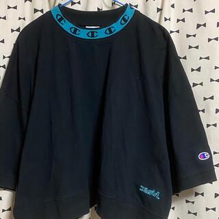 X-girl - 数回のみ Championコラボ モックネックTシャツ
