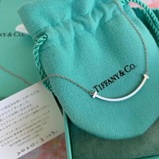 Tiffany & Co. - ティファニー⭐︎Tスマイルネックレス K18WG