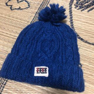 ラフ(rough)のrough☺︎ニット帽 ブルー(ニット帽/ビーニー)