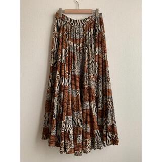 EDIT.FOR LULU - leopard patchwork skirt