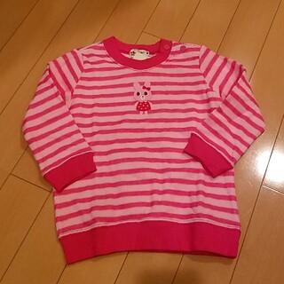 ミキハウス(mikihouse)のミキハウス トップス トレーナー 長袖 ピンク(Tシャツ/カットソー)