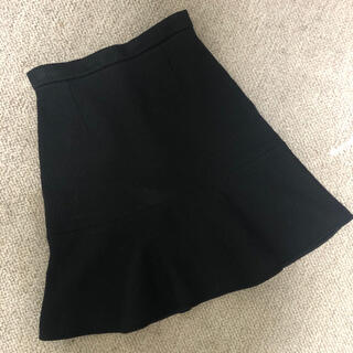 カルヴェン(CARVEN)のカルヴェン スカート ブラック(ひざ丈スカート)