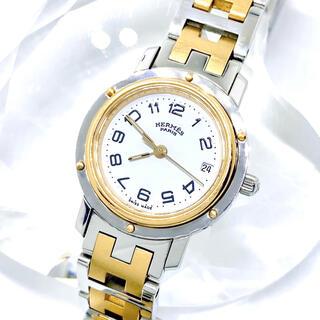 Hermes - 美品 エルメス HERMES  クリッパー 腕時計 レディース ゴールド