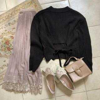 ロキエ(Lochie)のmellowneon back ribbon knit(ニット/セーター)