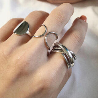 green label relaxing - silver925 repeatedly cross ring