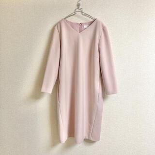 M-premier - m's select 七分袖 ワンピース ピンク