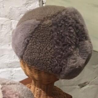 サマンサモスモス(SM2)のSM2サマンサモスモス 今季新作 ボアパッチワークベレー新品 モカ(ハンチング/ベレー帽)