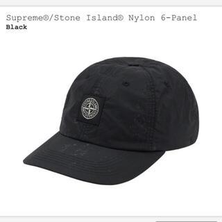 Supreme - supreme stone island cap ブラック