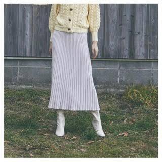 シールームリン(SeaRoomlynn)のSeaRoomlynn KNITプリーツSLIMスカート(ロングスカート)