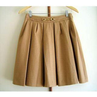 アナトリエ(anatelier)のアナトリエ キャメルスカート 38サイズ(ひざ丈スカート)