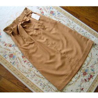 グローブ(grove)のgrove グローブ ウエストリボンベルト付 膝下丈スカート Lサイズ(ロングスカート)
