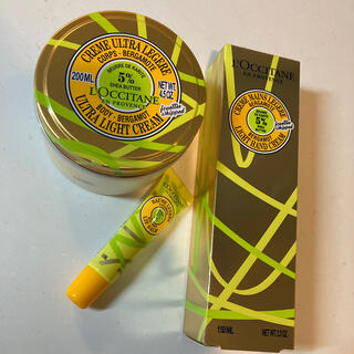 L'OCCITANE - ロクシタンスノーシアボディクリームハンドクリームリップバームアールグレイセット