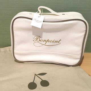 Bonpoint - ボンポワン Bonpoint ポーチ バニティ バッグ 巾着 グレー 袋 付