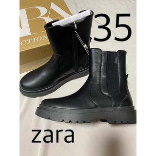 ZARA - ZARA ゴム入りトラックソールアンクルブーツ 35