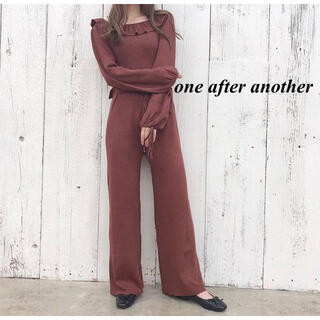 one after another NICE CLAUP - 新品 one  after another ニットロンパース