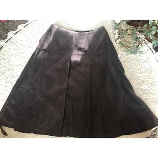 クードシャンス(COUP DE CHANCE)の♡クードシャンス スエード調 チョコブラウンフレアスカート♡(ひざ丈スカート)