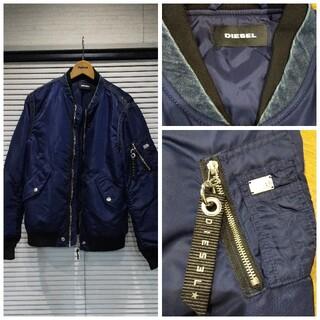 DIESEL - DIESEL デニム切り替えボンバージャケット。着用回数は少なく綺麗な状態です