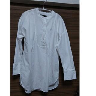 Banana Republic - バナナリパブリック バンドカラーシャツ 白 Sサイズ