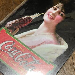 コカコーラ(コカ・コーラ)のコカコーラ ALL THE YEAR 'ROUND ブリキ看板(ソフトドリンク)
