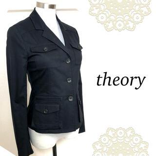 セオリー(theory)のセオリー(サイズ0)黒の美シルエットジャケット(テーラードジャケット)