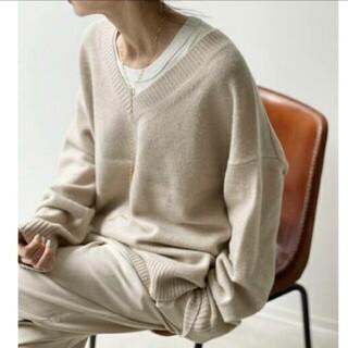 L'Appartement DEUXIEME CLASSE - Feminity Knit キャメルA
