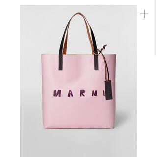 マルニ(Marni)の新品未使用 マルニ  PVC ショッピングバッグ ピンク ストライプ バッグ(トートバッグ)