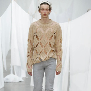 Stefan Cooke SS20 Slashed Cable Knit