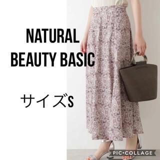 ナチュラルビューティーベーシック(NATURAL BEAUTY BASIC)の新品即日発送 NATURALBEAUTY BASIC ペイズリープリントスカート(ロングスカート)