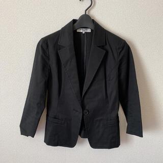 ナチュラルビューティーベーシック(NATURAL BEAUTY BASIC)の【美品】NATURAL BEAUTY BASICジャケット ブラック S(テーラードジャケット)